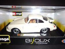 Bburago Porsche 356B 1961 Cream White 1/24
