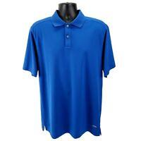 Callaway Golf X-Series Men's L Large Polo Shirt Performance Short Sleeve Blue