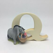 Classic Pooh Eeyore With Basket Letter Q Alphabet Figurine A6632
