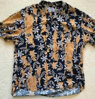 Jams World Aloha Shirt....XL.... Made In USA...rayon Polyester