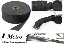 1 metro + fascette benda termica calore bendaggio scarico collettori  auto moto