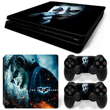 Sony PS4 Slim Console and Controller Skins / Decal -- Batman's Joker (S-0067)
