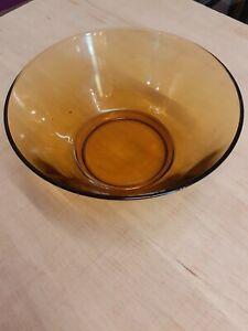 Vintage Amber Glass Fruit, Serving Bowl