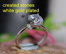2ct 8mm brilliant DIAM0ND  with collar ring size N 7