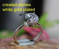 2ct 8mm brilliant DIAM0ND  with collar ring size J 5