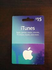 Apple Store iTunes $15 Gift Card - Free Shipping