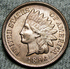 1894 Indian Head Cent Penny --- GEM BU++ Red CONDITION --- #N273