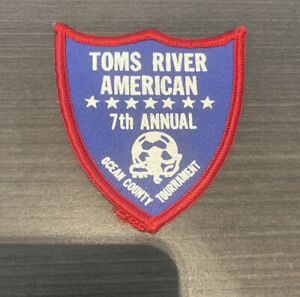 Vintage Toms River NJ American Soccer Club Ocean County Tournament shield patch