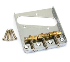 Wilkinson Chrome Compensated Brass 3-Saddle Bridge for Fender Telecaster/Tele®