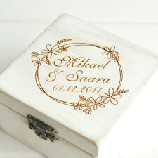 Custom Name Ring Box Rustic Ring Bearer Box Wedding Ring Holder Engagement box