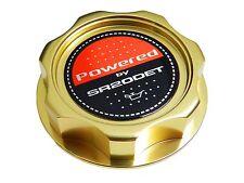 GOLD SR20DET TURBO M7-STYLE BILLET ENGINE OIL CAP FOR NISSAN INFINITI