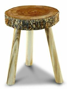 Side Table Wood Tree Pane Stool Round Table Unique Solid Disc Natural