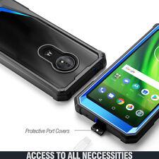 For Moto G6 Play / G6 Forge Case | Full-Body Hybrid Bumper Shockproof Cover Blue