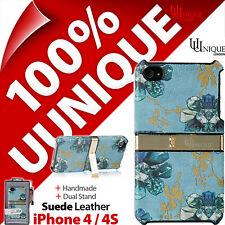 NEU Uunique Hartschale Schutzhülle Original Wildleder für Apple iPhone 4/4S