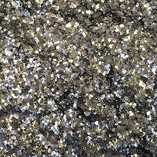 Biodegradabile SUPER PESANTE ARGENTO GLITTER 70g glitterlution FESTIVAL DECOR 1mm