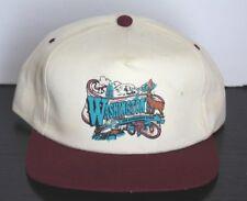 Vintage Washington State Evergreen State Hat Cap Deer Seattle White Maroon