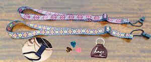 Haze Adjustable Nylon Ukulele Strap Colored Design W Hook Free Pick Hold 3 Picks