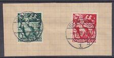 DR Mi Nr. 660 - 661, rund gest. Glauchau 01,07.1939 auf Briefstück, Dt. Reich