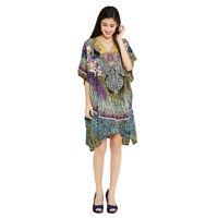 Tunic Kaftan Dress Size Print Caftan Free Women Plus Animal Beach Top Cover Up