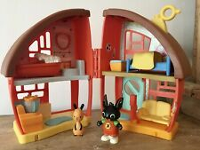 ❤️MY FRIEND BING BUNNY'S INTERACTIVE HOUSE ~ CBEEBIES TOY COMPLETE BING & FLOP❤️