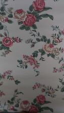 Wallpaper Waverly 579972 Large Floral Mauve Berry Gold Green Dark  60% Off NEW