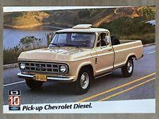 1981 Chevrolet D10 Pick-up (Pickup) original Brazilian sales brochure