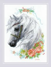 Horse with Roses Cross Stitch Chart