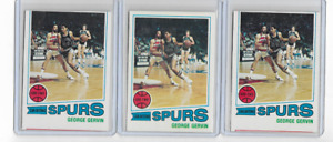 (3) GEORGE GERVIN 1977-78 TOPPS BASKETBALL LOT #73 - SPURS