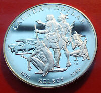 Rare 1990 Canada Silver Dollar 300th Anniversary Henry Kelsey/'s Ventures #B102.