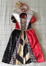 Disney Alice In Wonderland Queen Of Hearts Fancy Dress Costume/Girls Outfit 5-6