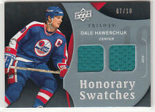 DALE HAWERCHUK 2009-10 UD TRILOGY HONORARY SWATCHES JERSEY #07/10 JETS !