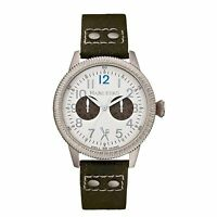 NEW Marc Ecko Unlimited E13513G1 Men's The Recon Silver Dial Black Canvas Watch
