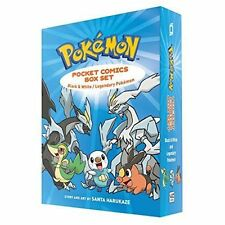 Pokemon Pocket Comics Collection 2 Books Box Set by Santa Harukaze Black& White