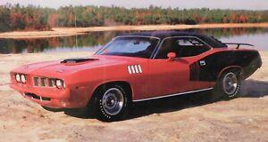 1971  PLYMOUTH HEMI CUDA RED HARD TOP POSTER
