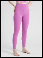 Athleta NWT Women's Elation 7/8 Tight Size Med Color Dark Violet Blush