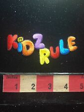 Red K Version KIDS RULE (Much To Their Parents Chagrin) Patch 73X9