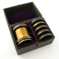 TROUSSE C no. 5 brass set lens Messing Objektiv Satz Comptoir Bordeaux 6-teilig