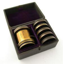 TROUSSE C no. 5 brass set lens Messing Objektiv Satz Comptoir Bordeaux 6-teilig
