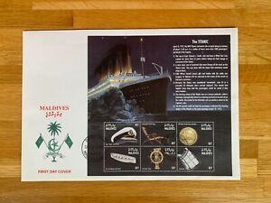 MALDIVES 1998 FDC LARGE TITANIC