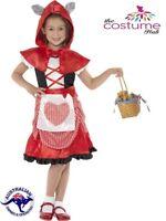 Miss Little Red Riding Hood Book Week Fancy Dress Girls Kids Party Costume