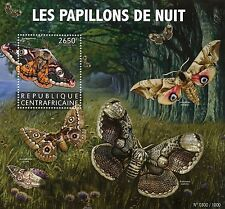 Central African Republic 2015 MNH Moths 1v S/S Insects Small Emperor Moth Stamps