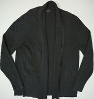 AllSaints Penza Cardigan Full Zip Sweater Black Mens Cotton XL