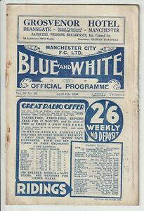 Manchester City V Derby County Rare Division One Programme 1935/36