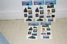 5 sets 1982 Knight Rider Tv Show Puffy Stickers Rare David Hasselhoff Nip Mip