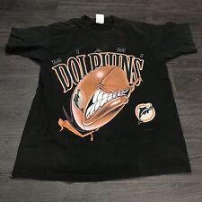 Vintage 1994 90's Miami Dolphins T-Shirt Men's M NFL AFC Screaming Logo Football
