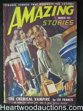 """Amazing Stories"" March 1949 The Chemical Vampire Cvr"