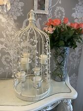 Vintage Cream Birdcage Glass Candle Holders Baylis Harding Candles Shabby Chic