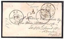 USA Boston Transatlantic Cover Taxed GB London *6d*Foreign Branch {samwells}M140