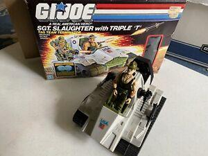 Vintage G.I. Joe Triple T Vehicle & Sgt Slaughter Figure, w box, Hasbro 1986