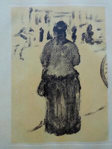 """Degas Edgar : Family Cardinal """" Woman de Dos """" - Lithography #1948 #1000ex"""